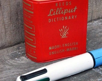 Reeds Lilliput Maori-English Dictionary (1960) - FREE SHIPPING