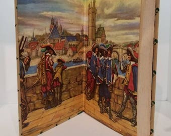 The Three Musketeers (1953) - Illustrated Junior Library Vintage Book - FREE SHIPPING