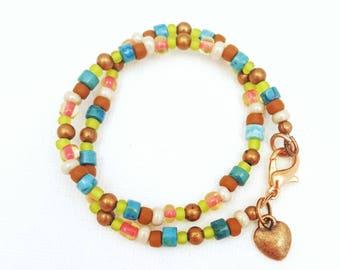 copper anklet, boho anklet, bohemian anklet, beachy anklets, beaded anklets, beaded ankle bracelet, anklets for women, handmade jewelry