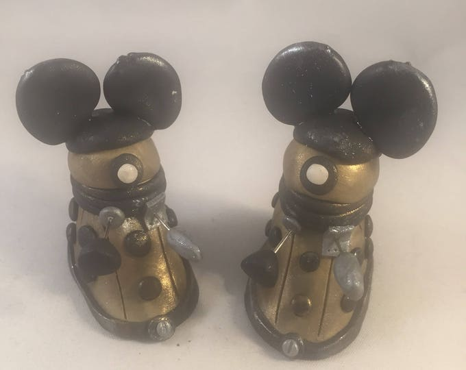 Disneybounding Dalek parody polymer clay Sculpture Whovian
