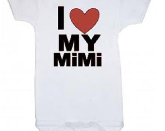 I Love My MiMi cute funny onesie bodysuit shower gift