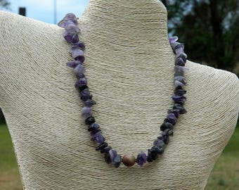 Amethyst Nugget Natural Gemstone Necklace