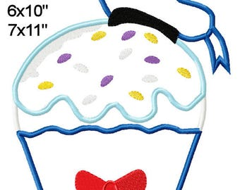 Cupcake Duck D0NALD  Sweets Machine Applique Design Embroidery Pattern 4x4 5x7 6x10 7x11 INSTANT DOWNOAD