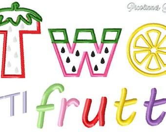 twottifrutti Machine Applique Design Embroidery Pattern 5x7 6x10 7x11 INSTANT DOWNLOAD