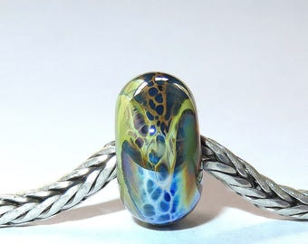 Luccicare Lampwork Bead - Dragon XVII -  Lined with Sterling Silver