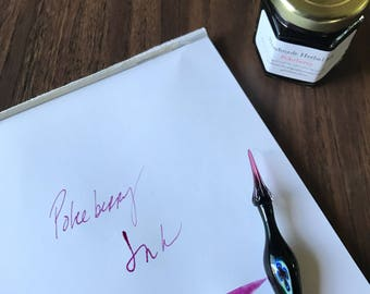 Pokeberry Ink - all natural botanical ink for writing, drawing, painting, calligraphy