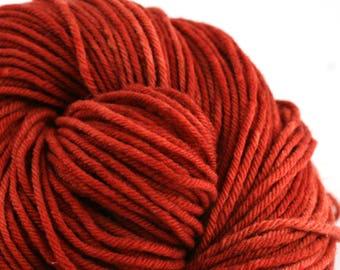 Hand Dyed Aran weight mini Empire Rambouillet Wool 213 yds 4oz Barnsides