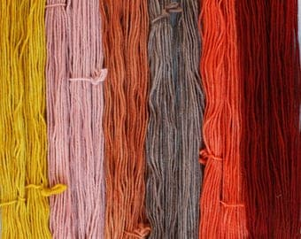 Spice Market set of 6 one ounce skeins worsted weight wool total 330yds 302m