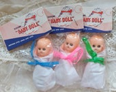 Three Vintage Baby Doll Packets..Baby Shower Favors