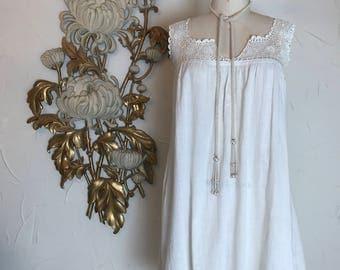 1920s nightgown flapper nightgown cotton nightgown victorian nightgown vintage nightie antique undergarment size medium flapper lingerie