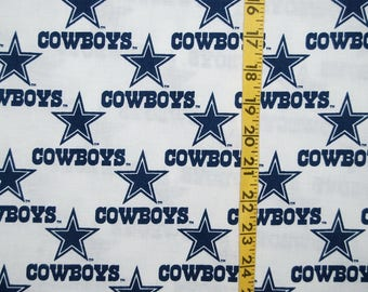 DALLAS COWBOYS fabric licensed NFL Texas football logo home dec quilting apparel yardage