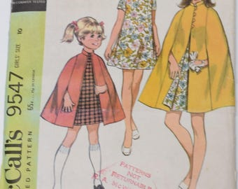Vintage 1968 McCall's Pattern 9547 Girls 10
