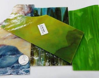 Mixed Color Scrap Glass -  Vintage Chicago Glass - 1 pound 2.4 oz