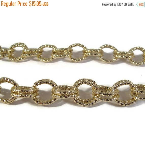 Summer SALEabration - Gold Plated Chain, 22 Inches of Chain, Beautiful Gold Plated Chain for Making Jewelry (F-1c)
