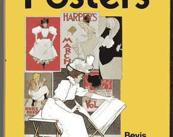 POSTERS Hardcover Book by Bevis Hiller A History of the Poster Art 1870-1960's Advertising Billboards Propaganda History Pop
