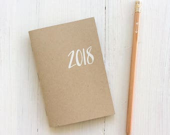 2018 mini kraft monthly planner