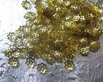 Bead Cap Gold Plated 6mm Bead Caps 400 Jewelry Findings