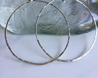 Large circle hoop-Sterling silver