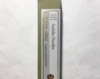 Tulip Sashiko Needles THIN Big Eye Straight THN-103e