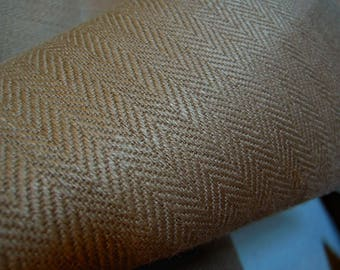 Hemp Heavy Fabric, Organic, Tan, Light Brown, Upholstery, Crafts, Home Decor