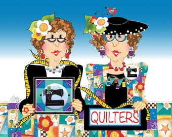 Quilters Greeting Card with Sewing Machine Pin/Button