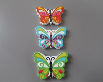 Wooden Butterfly Buttons X 5