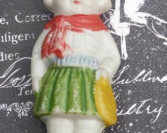 Vintage frozen charlotte girl figurinecow girl