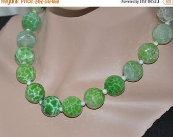 Green Necklace,  Agate Necklace,  Statement Necklace,  Gemstone Jewelry, Sterling Silver, Adjustable, Sparkle,  Fashion Jewelry
