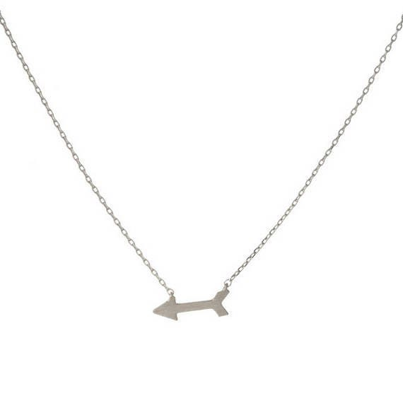 Silvertone Arrow Pendant Necklace