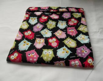 Microwave Potato Bag, Large, Potato Bag, Owl, Snooze Owl, Multi Colors, Potato Sack, Baked Potato Bag, Handmade, Kitchen Utensil, Cotton
