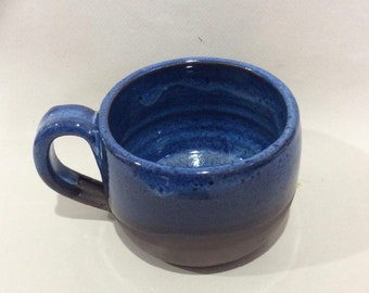 blue ceramic/stoneware/pottery/handmade mug/  tea cup/ ready to ship / coffee mug/cup