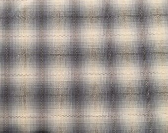 Woven Japanese Taupe plaid by Lecien - 2 yards