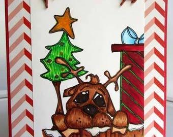 1882 Reindeer Silly Digi Stamp