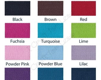 10 - REMNANT 10 INCH Pieces - 1.25 INCH Heavy Cotton Webbing for Key Fobs - Your Color(s) Choice