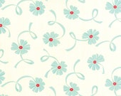 Half Yard Fabric-Hello Darling-Small floral Aqua Ribbon 555116-22