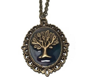Glow in the Dark Tree of Life Pendant Necklace
