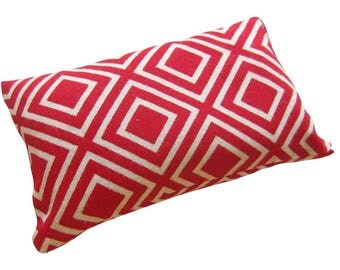Red Squares Pincushion filled with Emery Sand
