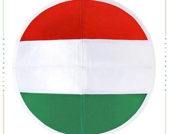 Jewish kippah yarmulke. Flag of Hungary.