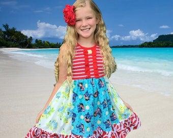 LILO and Stitch Hawaiian Disney Aulani vacation clothing Momi boutique custom dress