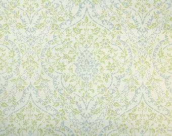 1960s Vintage Wallpaper by the Yard - Green and Gray Damask