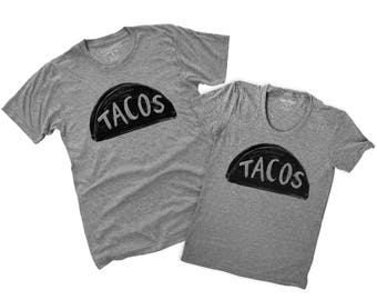 Taco T-shirts, Funny Couples Shirts, Matching Couples Shirt Set, mr mrs shirt, Taco Twosday TShirts, couples gift, Matching His Hers Shirts