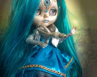 Blythe Doll Customized Soave Girl Lilu custom made Art Doll One of a Kind Alien Art Doll
