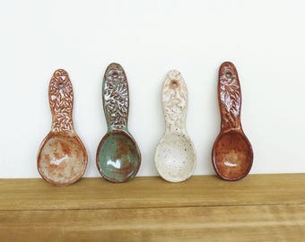 Stoneware Ceramic Spoon Collection - Set of 4