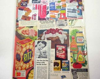 Food Ephemera Pack 50 Pieces of Original Vintage Ephemera for Altered Art