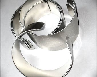 "CLEARANCE - Aluminium Bracelet Blank or Memory Cuff 1.25""X6"" - Silver Color"