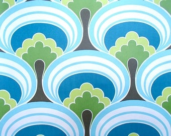 full roll vintage wallpaper 'cotton tree' / original European wallpaper / retro / space age