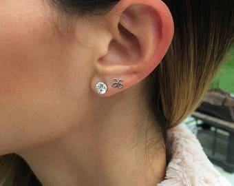 Arbonne White Gold Stud Earrings