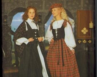 OOP Simplicity 8855 Womens RENAISSANCE Sewing Pattern Celtic Dancer Tam Sizes 6-8-10-12