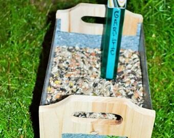 GARDEN SALE Garlic Garden Stake, Gardener, Cook, Co workers Gift, Father Gift, Community Garden Gift
