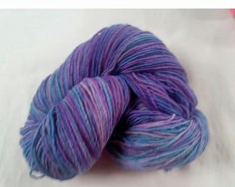 "Plain & Fancy Hand Dyed Wool Yarn ""Mardi Gras"" Colorway"